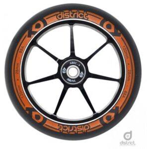 Кoлесо District Dual Width Core 110 Black Orange